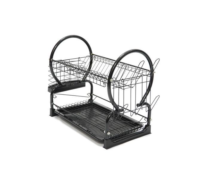 Chrome Dish 2-Layer Rack Black