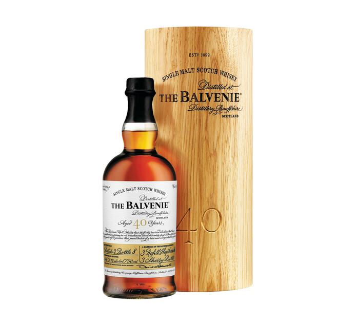 Balvenie 40 YO Speyside Single Malt Whisky In Wooden Box (1 x 750ml)