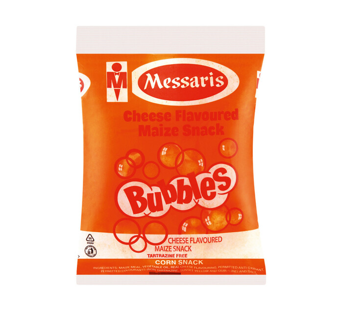 Messaris Bubbles Maize Snacks Cheese (24 x 20g)