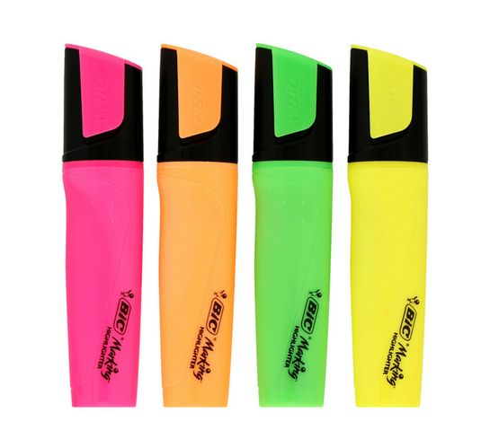BIC Marking Highlighters 4-Pack Assorted