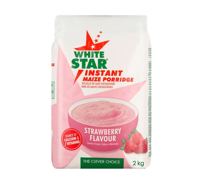 White Star Instant Maize Porridge Strawberry (4 x 2kg)