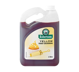 ROBERTSONS Food Colouring Yellow (1 x 3lt)