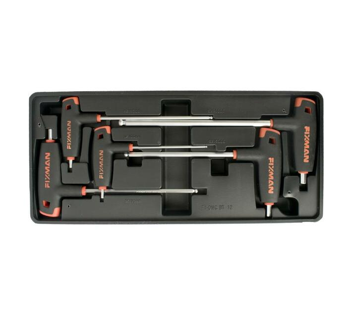 Fixman 5-Pc L-Handle Hex Keys W-Ball Head 3-4-5-6-8mm