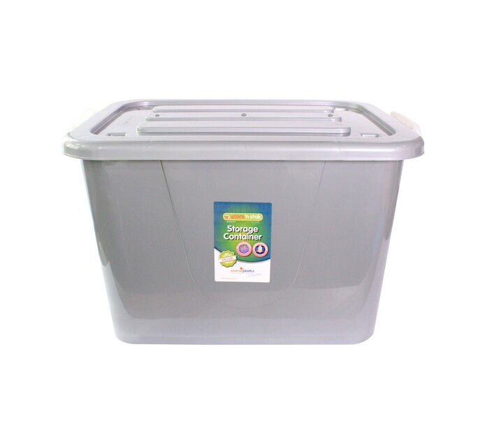 Store 'n Stak 85 l Storage Container with Lock Lid