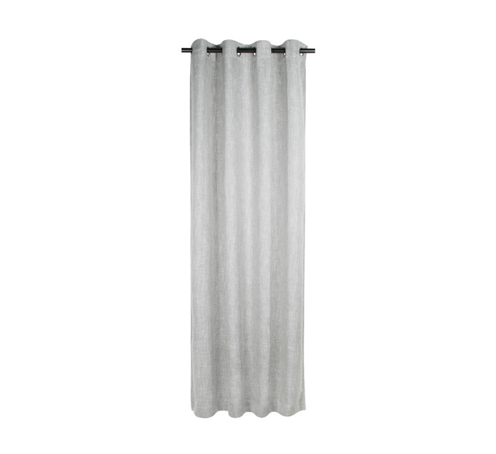 Republic Umbrella 140 x 225 cm Alyssa Blockout Eyelet Curtain Silver Grey