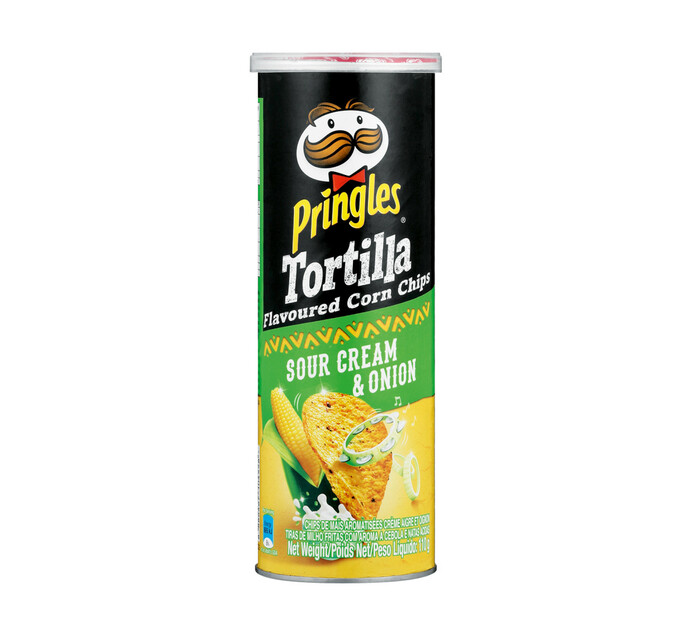 Pringles Corn Chips Sour Cream and Onion (1 x 110g)