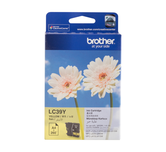 BROTHER 39 Yellow Ink Cartridge
