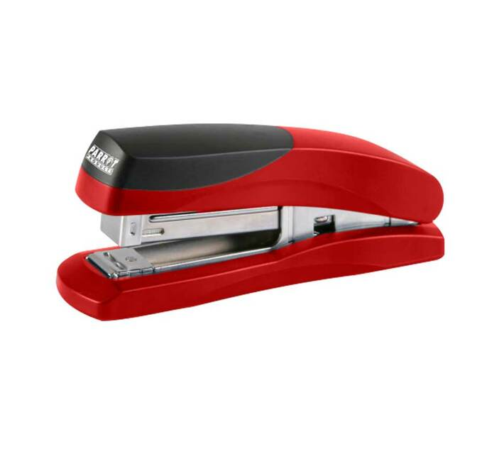 PARROT PRODUCTS Plastic Medium Desktop Staplers 105*(24/6 26/6), Red 20 Pages