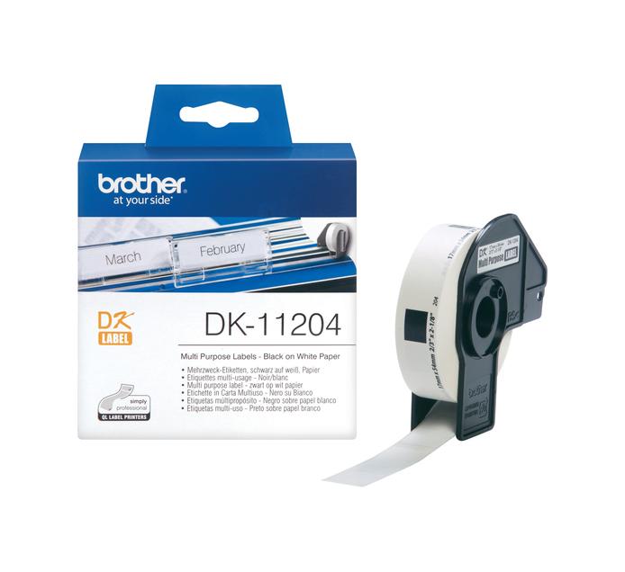 Brother 17mm x 54mm DK-11204 Multi-Purpose Label (17mm x 54mm)
