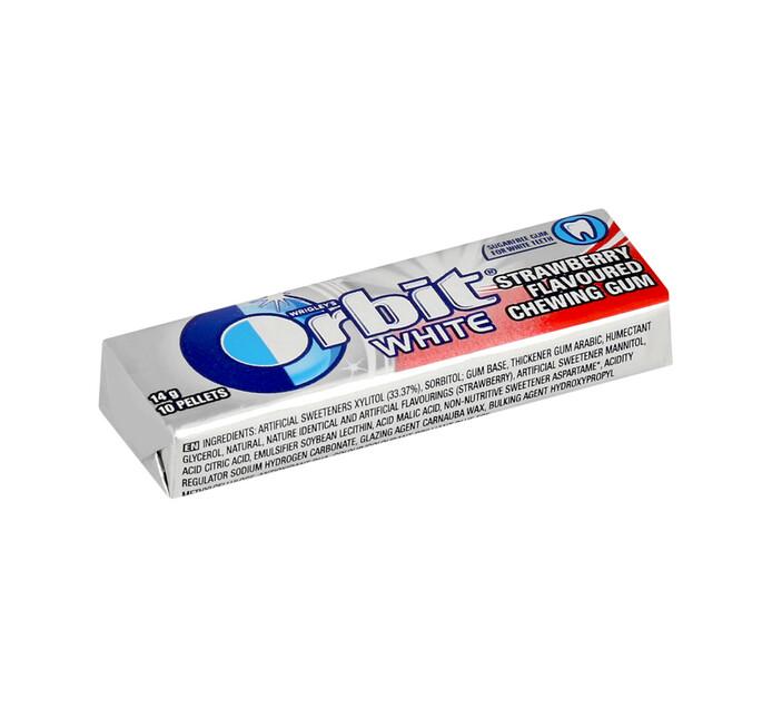 ORBIT S/F GUM PELLET PK 10PC, WHT S/BRRY