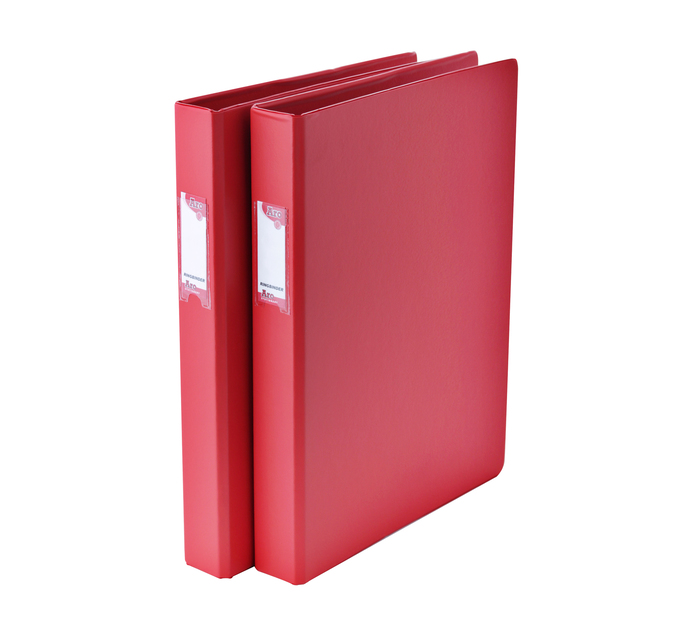 ARO A4 Ring Binder Red 2 Pack