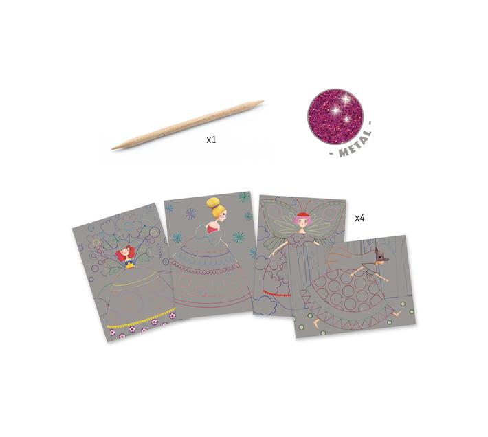 Djeco Scratch Boards- Beauties' Ball