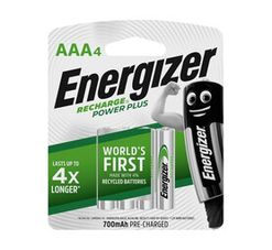 Energizer AAA NIMH Batteries 4-Pack