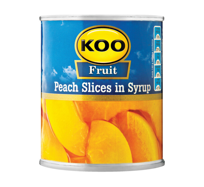 KOO Peach Can Peach Slices (6 x 225g)