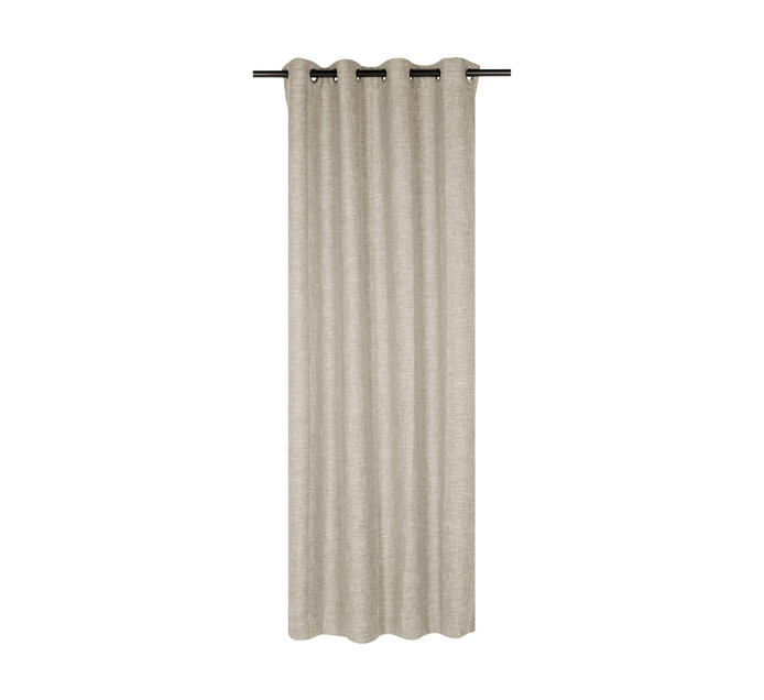 Republic Umbrella 140 x 250 cm Alyssa Blockout Eyelet Curtain Natural