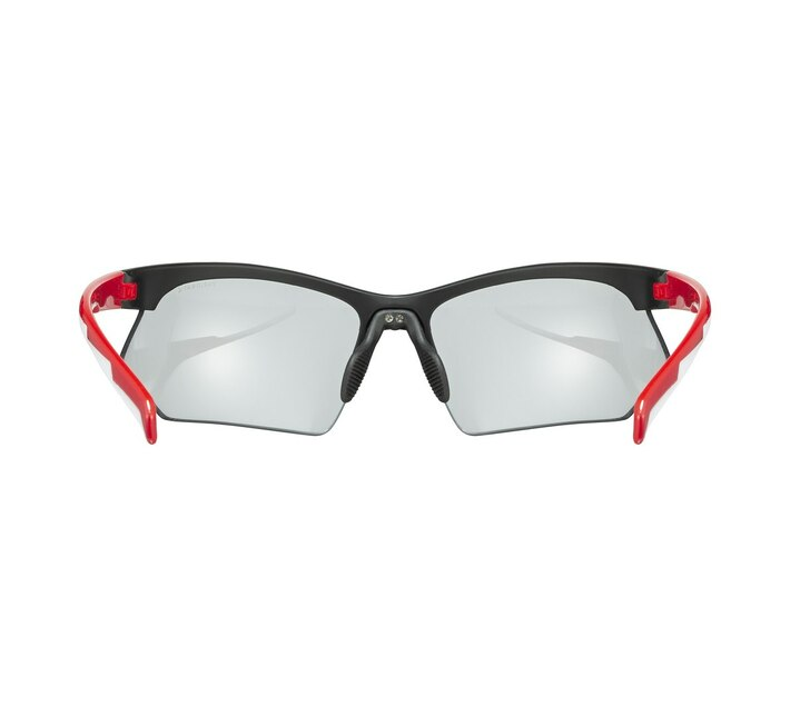 uvex Sportstyle 802 V - Black Red White Variomatic Smoke Glasses