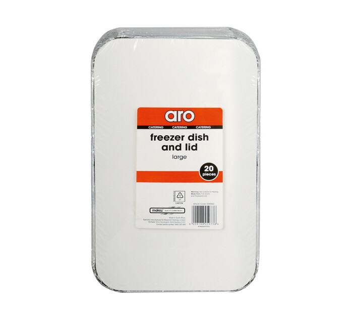 ARO Freezer Dish And Lid Large (1 x 20's)