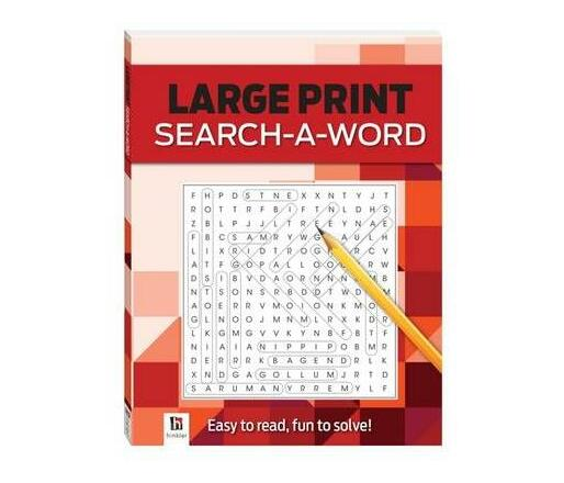 Large Print Search-a-Word Series 4, Vol.2