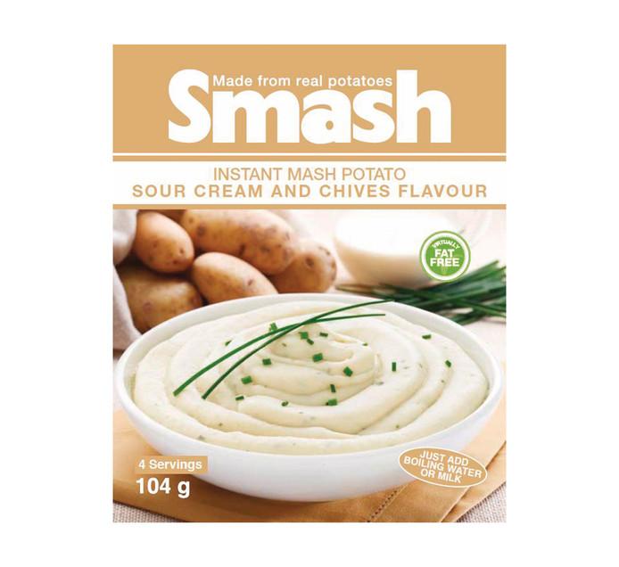Smash Instant Mash Potato Sour Cream & Chive (1 x 104g)