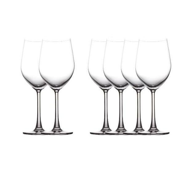 Cosmopolitan Red Wine Glasses, Set of 6
