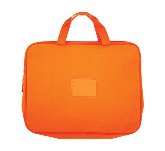 Kenzel A4 Book Bag with Handle Orange Orange