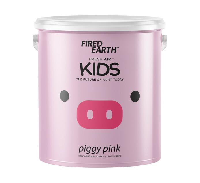 Fired Earth 2.5L Fresh Air Kids Paint Piggy Pink