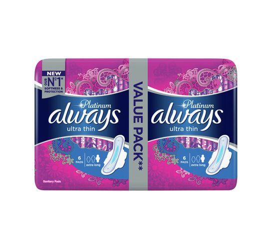 Always Ultra Sanitary Pads Platinum Extra Long (1 x 12's)