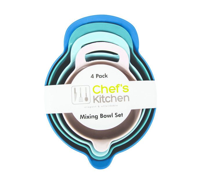 Chef's Kitchen 4 Piece MIXING BOWL SET