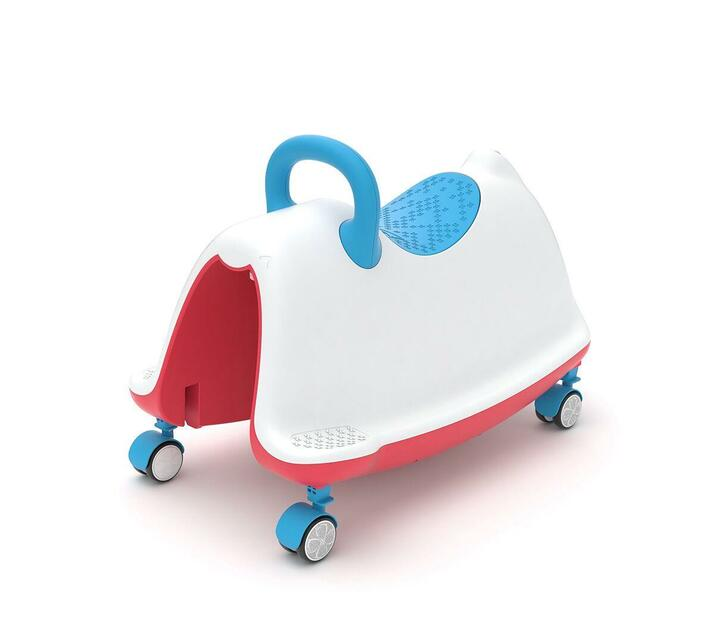 Chillafish Trackie, Rocker, Walker, Ride-On & Play Train All in One, White/Blue/Red