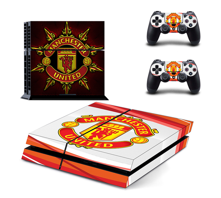 SKIN-NIT Decal Skin For PS4: Manchester United (Red + White)