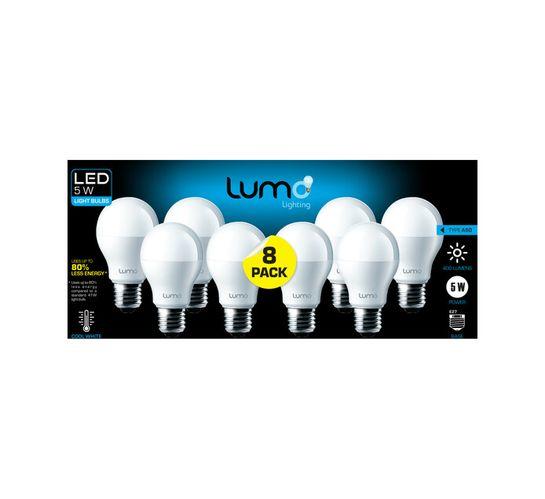 Lumo 8 pack 5W LED A60 ES CW