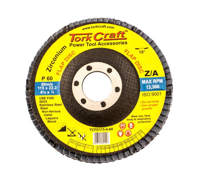 Tork Craft 60 Grid 115mm Zirconium Flap Disc