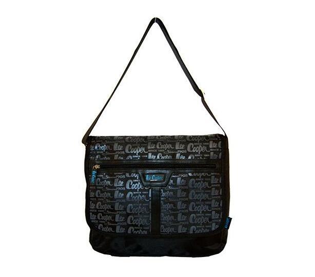 Black And Blue 12 Inch Laptop Sling Bag