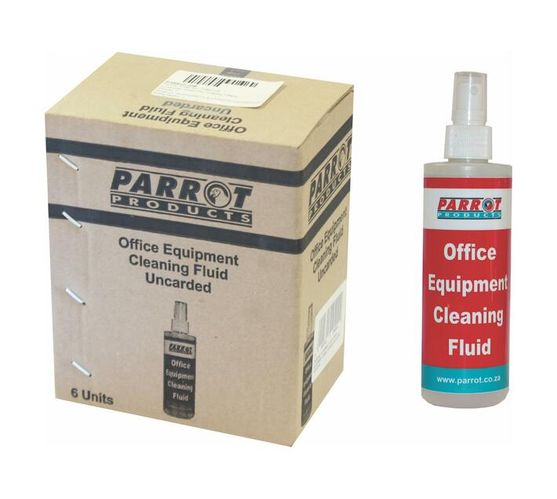 PARROT PRODUCTS Office Equipment Cleaning Fluid (250ML Uncarded Box of 6)
