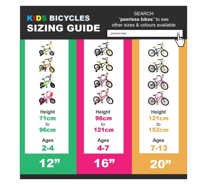 Peerless 12 BMX Bike with Training Wheels - Yellow & Blue