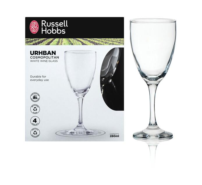 Russell Hobbs 380 ml Russell Hobbs Urhban White Wine Glasses 4-Pack