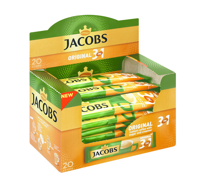 Jacobs Kronung Instant Coffe Sticks 3 In 1 (1 x 20's)