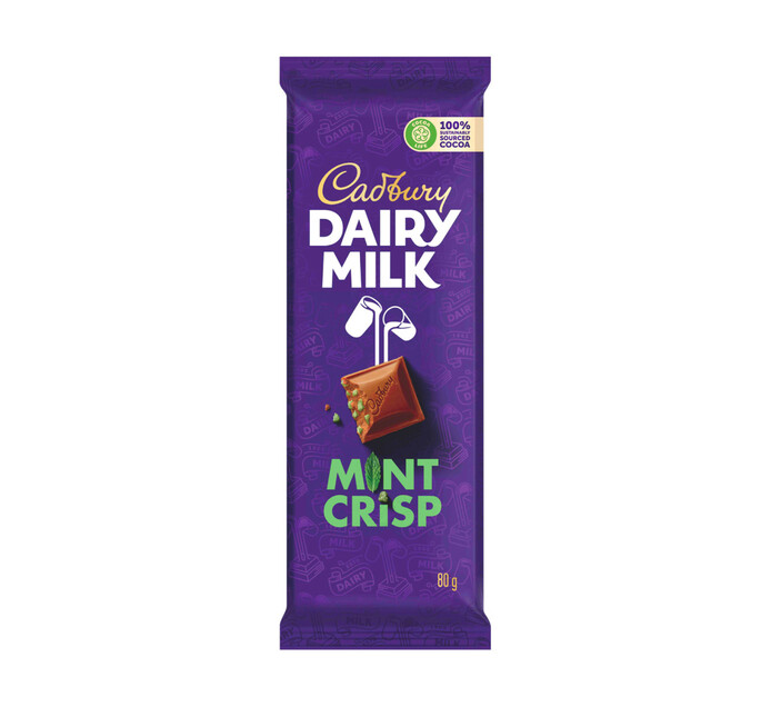 Cadbury Slabs Mint Crisp (1 x 80g)