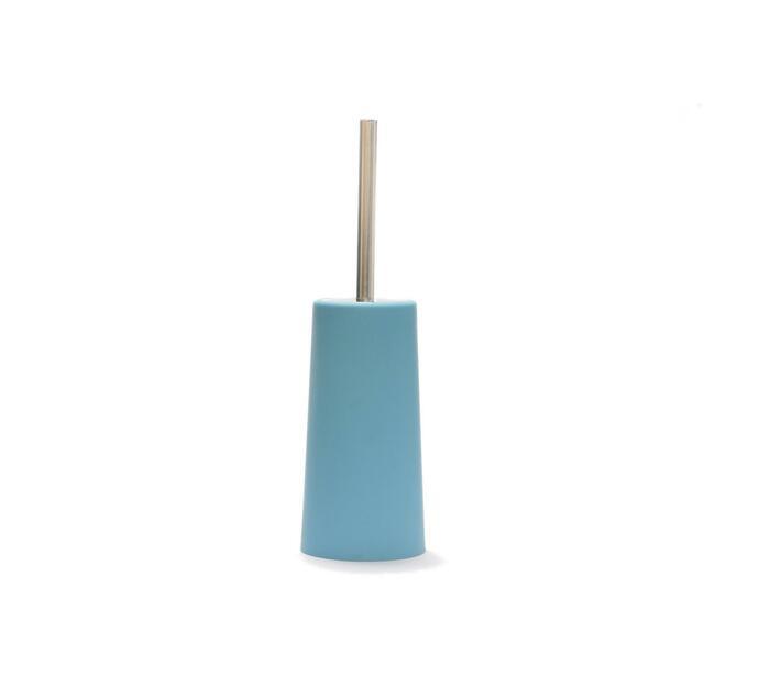 Toilet Brush Round Plastic Blue