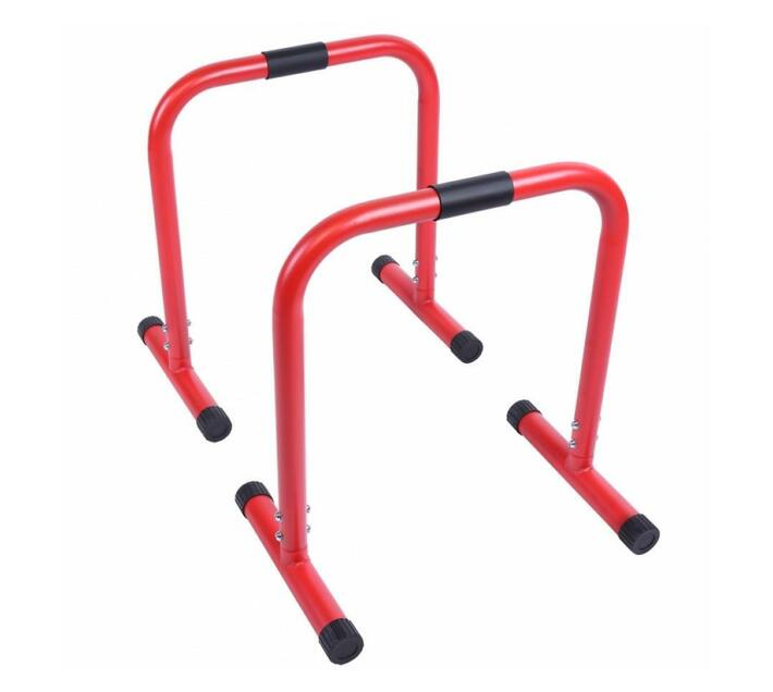 GORILLA SPORTS SA - Push-up Stand Bar Parallettes Red
