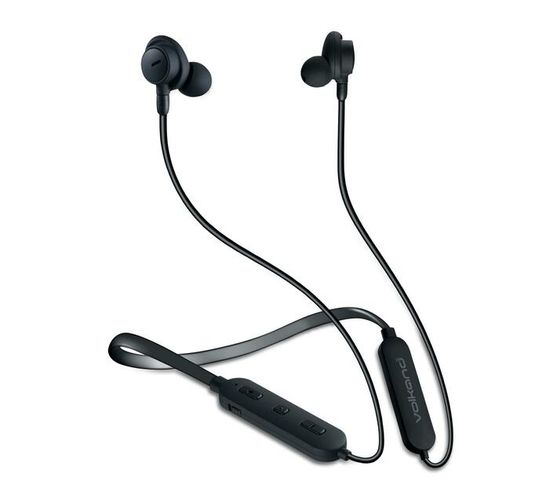 VolkanoX Silenzio Series Active Noise Cancelling Bluetooth Earphones with Flexible Neckband and Hard Carry Case
