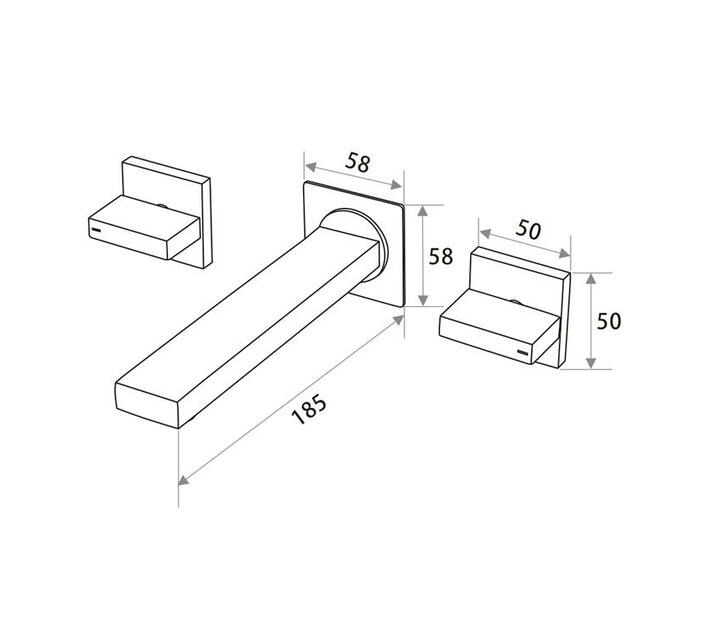 CHROMECATER Wall Mounted Basin/Bath Faucet Brushed