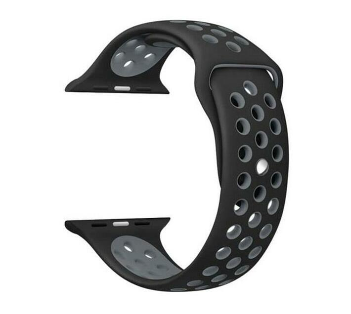 Zonabel Sport Strap for 42mm Apple Watch - Black & Grey