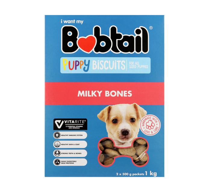 Bobtail Biscuits Puppy Milky Bones (1 x 1kg)