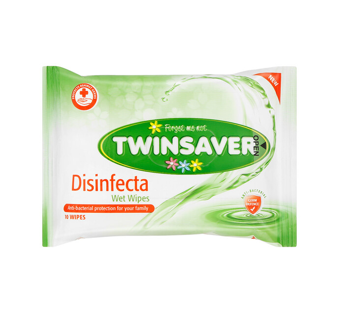 Twinsaver Hygiene Wipes Disinfecta (1 x 10's)