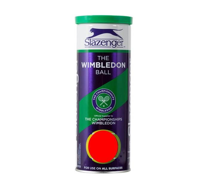 Slazenger 3 Pack Wimbledon Tennis Balls S/L