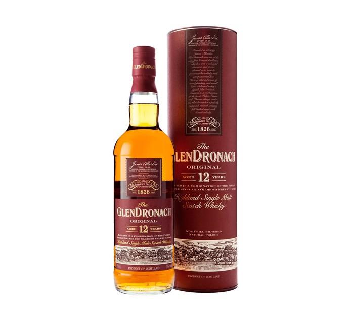 Glendronach 12 YO Highland Single Malt Whisky (1 x 750ml)