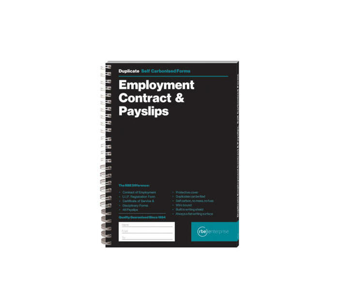 RBE: Employment Contract & Payslip Book (Pack of 2)