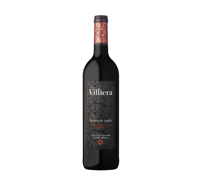 Villiera Down To Earth Red (12 x 750ml)