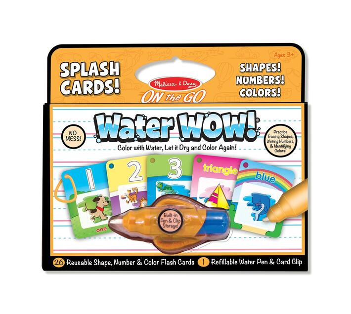 Water Wow Splash Cards Shapes, Colours, Numbers